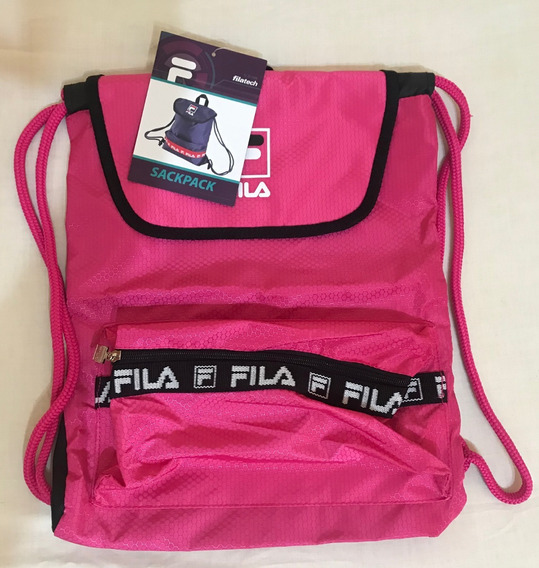 +exclusiva+ Mochila Fila Sackpack Rosa Traida De Usa Trap