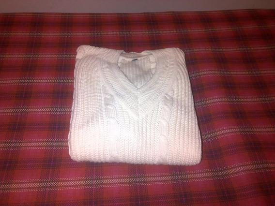 Sweaters Escote V Tejido A Mano