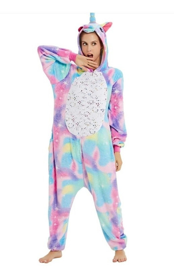 Pijama Unicornio Kigurumi Cosplay Mameluco Arcoiris Pastel