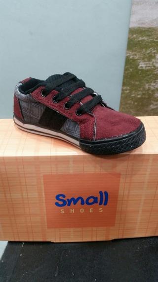 Zapatillas Small Gamuza Combinado. Talle 22 Al 35