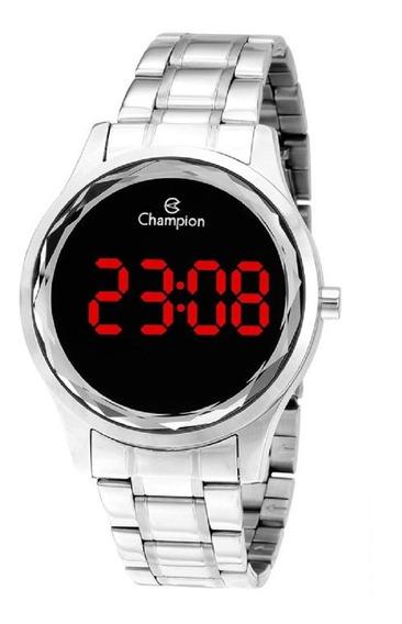 Relógio Champion Feminino Digital Led Ch48019t Prata