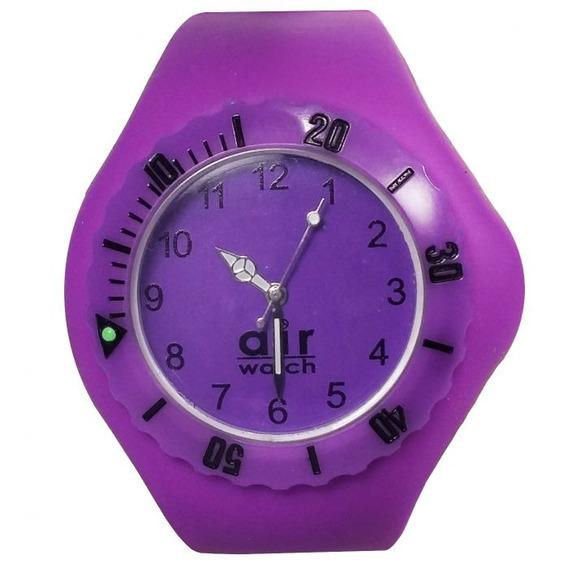 Relógio Pulso Air Watch Pulseira Silicone M5 Roxo Esc