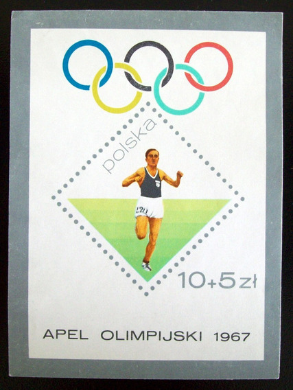 Polonia, Deportes Bloque Sc. B110 Olímpicos 1967 Nuevo L6061