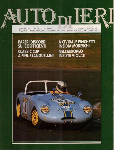 Auto Di Ieri - Ano Ii Nº 16 - Encarte - Auto Sprint