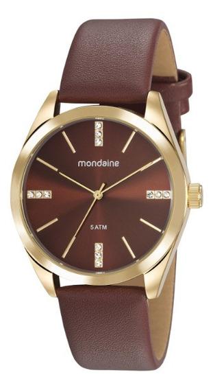 Relógio Casual Marrom Mondaine
