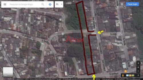 Terreno Medindo 15,10 M² X 154,00 M² Em Guaianazes - V6860