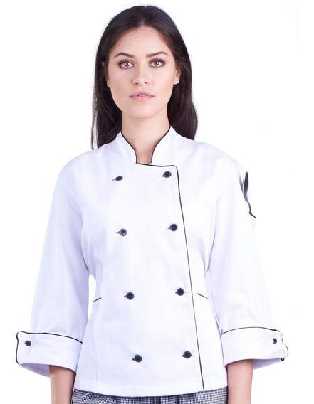Roupa Chefe De Cozinha Feminina Exclusivo