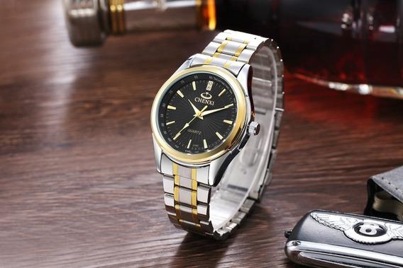 Relógio Chenxi Quartzo - Preta Pulseira Metal Aço Inoxidável