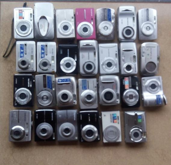 Lote 27 Câmeras Digitais Olympus C/ Defeito P/ Retirar Peças
