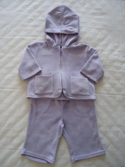 Conjunto Baby Gap Bebe Menina Casaco Calça Fleece 0 A 3 Mese