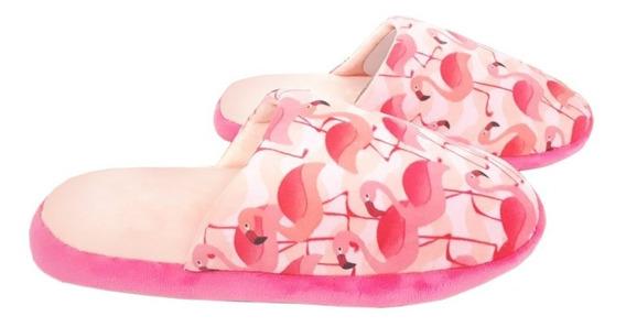 Kit Chinelo Feminino Pantufa Flamingo Ricsen 34-39