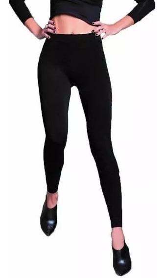 Calza Térmica De Mujer Con Frisa Talle Único Color Negro