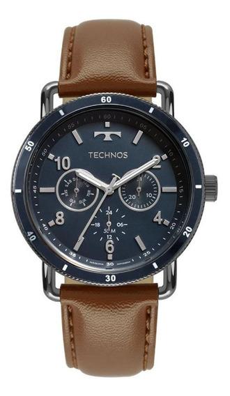 Relógio Technos Masculino Ref: 6p29akt/2a Multifunção Azul