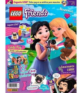 Lego Friends - N2 - Lindo Pug + Kit - Panini Revista
