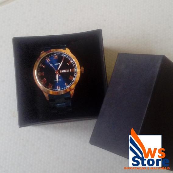 Relógio De Luxo Masculino Rose/azul