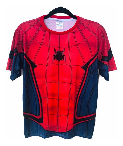 Camisa Homem Aranha Armadura Guerra Civil, Homecoming