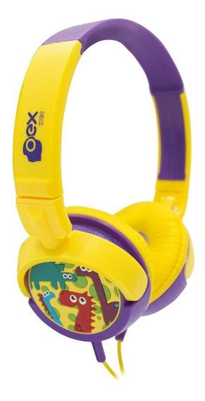 Fone De Ouvido Dino P/ Criança Oex Kids Headphone Infantil