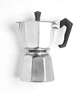 Cafetera Volturno 9 Pocillos Classica Aluminio Pulido
