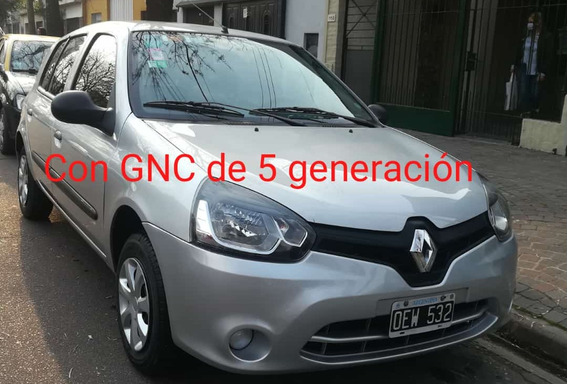 Renault Clio 1.2 Mío Authentique Pack Abs Abcp 2014 Gnc
