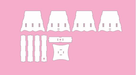 Vetor Dxf Cdr Kit Higiene Bebê Passa Fita - Mdf Laser Cnc