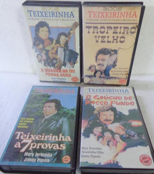 Teixeirinha Filmes 4 Vhs Raridade Frete R$ 20,00