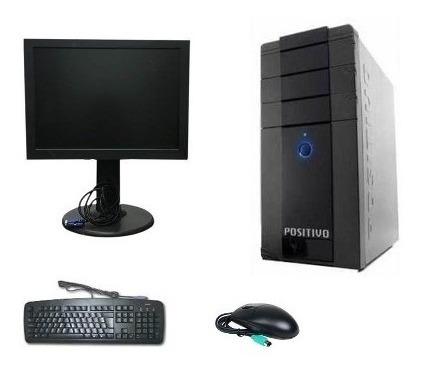 Computador Completo 2gb Ddr 2 Hd 80gb + Monitor 15