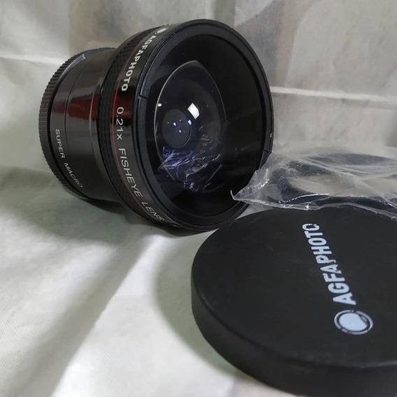 Lente Olho De Peixe Agfaphoto Para Lentes 55mm