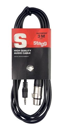 Cable Mini Plug A Canon De 3 Metros Stagg Sac3mpsxf Nuevo