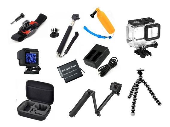 Kit Gopro Hero 5 6 7 Black Películas Bateria E Carregador