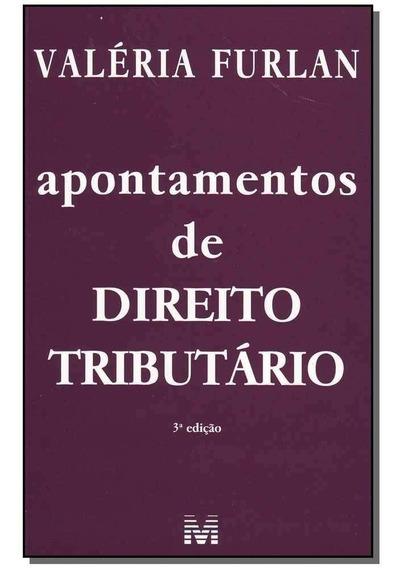 Livro: Apontamentos De Direito Tributário 3. Ed