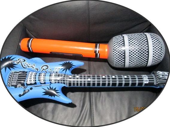 Instrumentos Inflable 5 Pza Guitarra Saxo Teclado Microfono