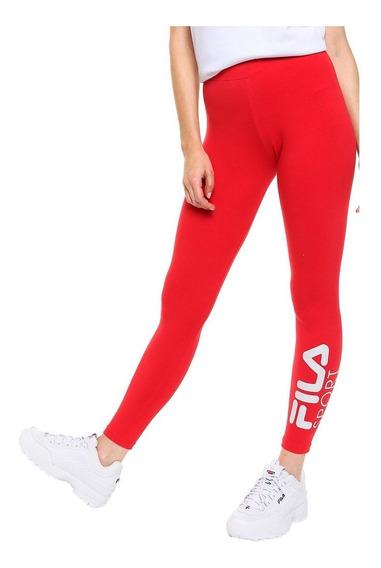 Fila Calza Lifestyle Mujer Sport Rojo - Grafito Fkr