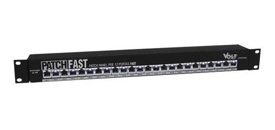 Patch Panel Poe 12 Portas Fast Ethernet