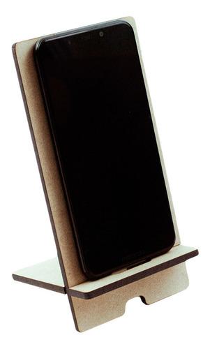 Imagen 1 de 6 de 50 Dock Bases Madera Mdf Celular iPhone Corte Laser