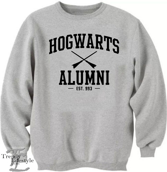 Blusa Moletom Harry Potter Hogwarts Alumni Unissex