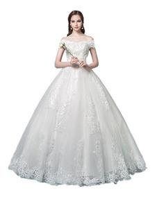 Vestido De Noiva Princesa Rendado Cauda Lindo Barato 37