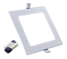 Plafon Painel Led Embutir 18w Branco Neutro Quadrado Kit 5