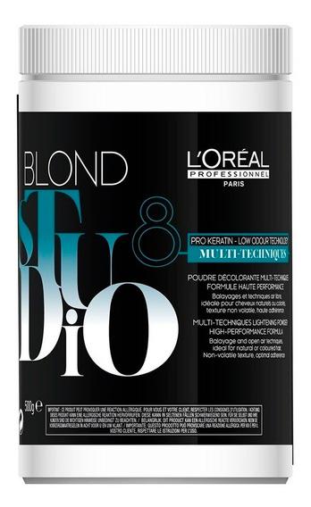 Polvo Decolorante Loreal Blond Studio Keratina P/ Pelo X 500