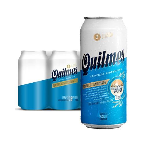 Cerveza Quilmes Clásica American Lager Rubia Lata 473ml 6u