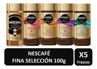 Cafe Nescafe Fina Selección Origins Frasco 100g X5 Sabores