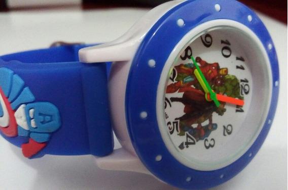 Relógio Infantil Os Vingadores Super Herois Capitão America