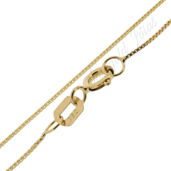 Corrente Veneziana Ouro 18k 45cm Stargold Jóias