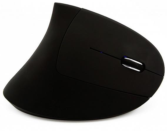 Mouse Wireless Sem Fio Quanta Qtmvc12 Vertical Para Canhoto