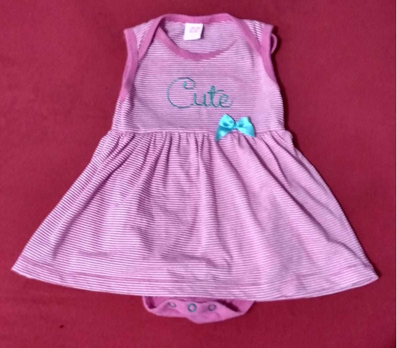 Vestido Com Body Bebê Menina