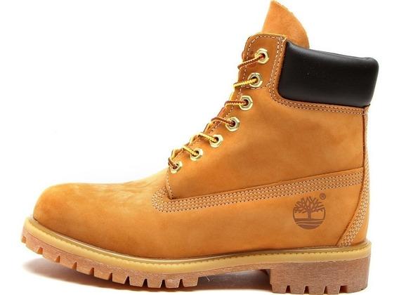 Bota Couro Timberland Yellow Boot 6in Premium Waterproof