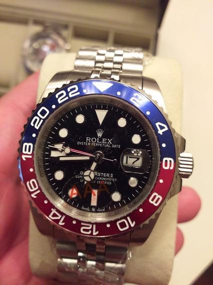 Relógio Masculino Rolex Pepsi Gmt Pulseira Jubileu 40mm Auto