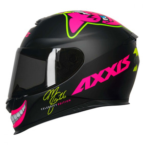 Capacete Axxis Mg16 Celebrity Edit By Marianny Mat Black 58