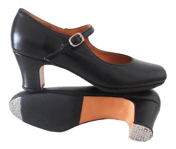 Zapato Folklore / Flamenco Semillado - Cuero - Danza