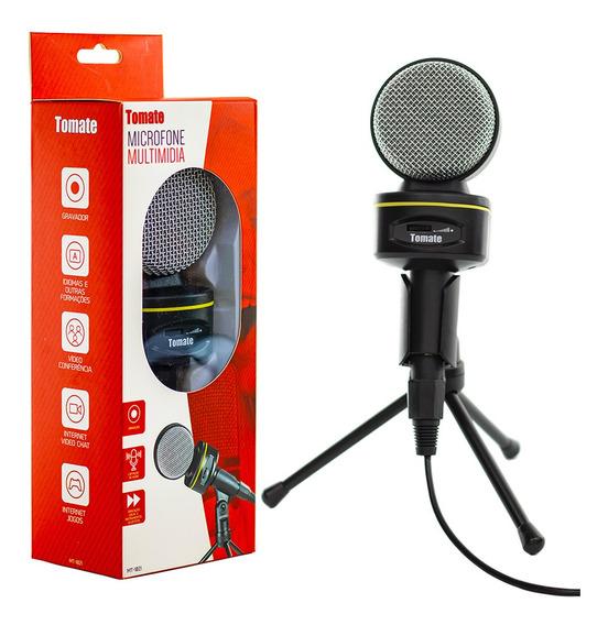 Microfone Multimídia Condensador Mesa Gravação Mt1021