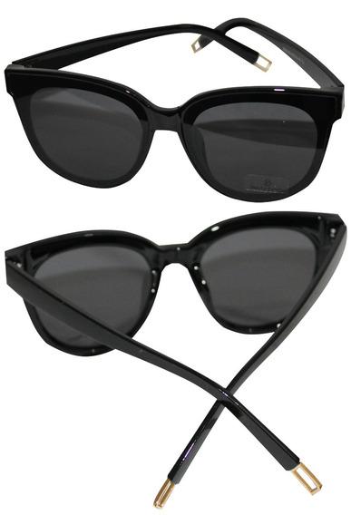 Óculos De Sol Feminino Lente Redondo Uv400